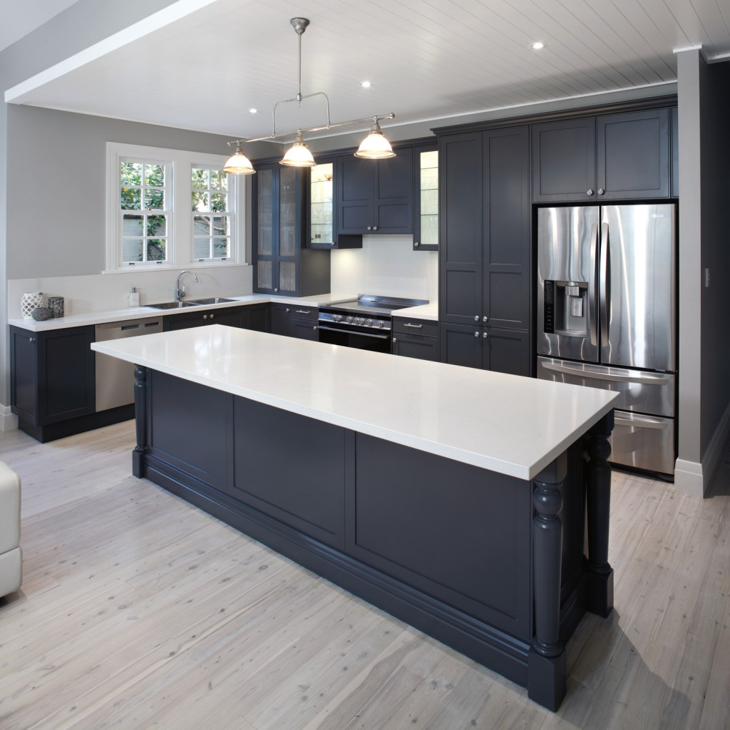 This beuatiful kitchen utilises Island benches that are both a functional and beautiful storage solution