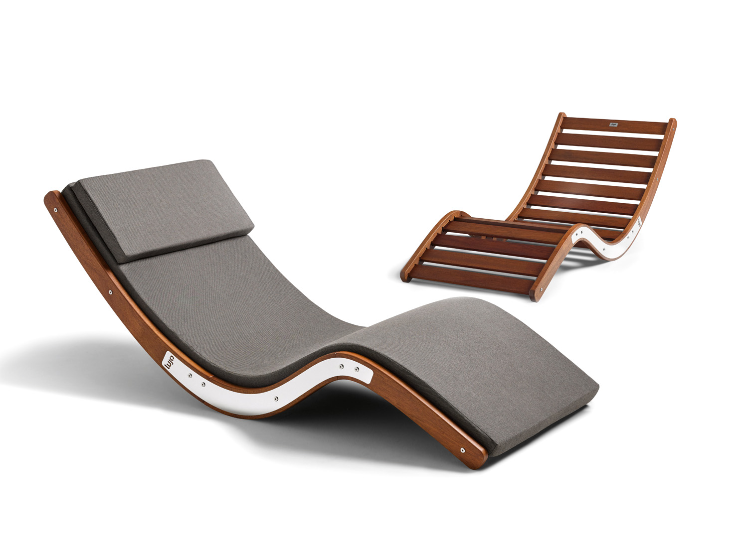 This sunlounger is made from kwila hardwood and is available from Lujo www.lujo.com.au