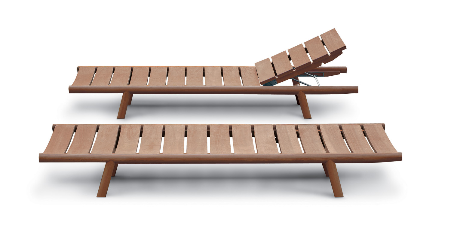 Relax with Roda's sleek and modern Orson slatted teak sun loungers from Contempo www.contempocollection.com.au