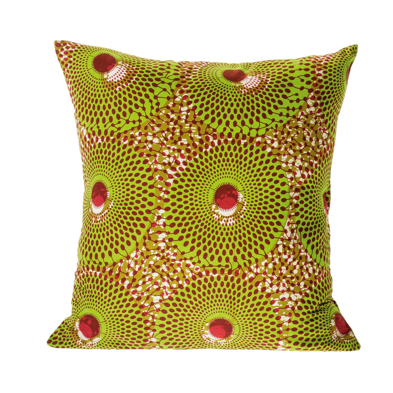 Wax-print African cushion, $29, vinylcuts.com.au