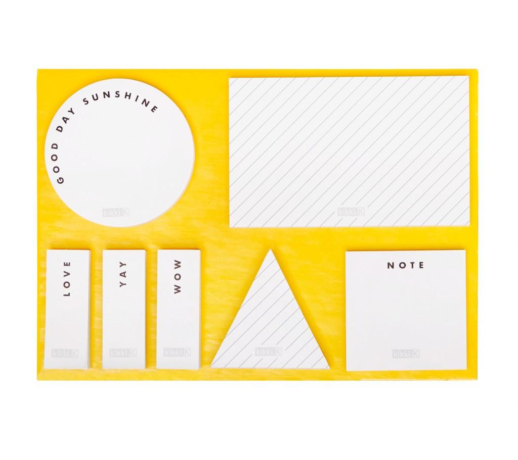 Hello Yellow adhesive note set, $14.95, kikki-k.com