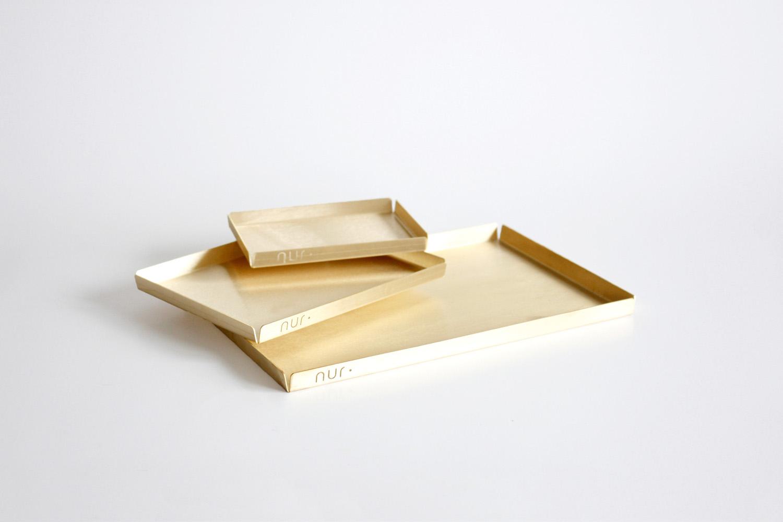 NUR trays in brass, from $79, residentgp.com.au