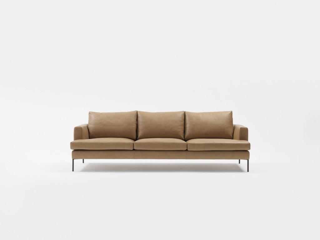 Alfred sofa in tan leather, jardan.com.au
