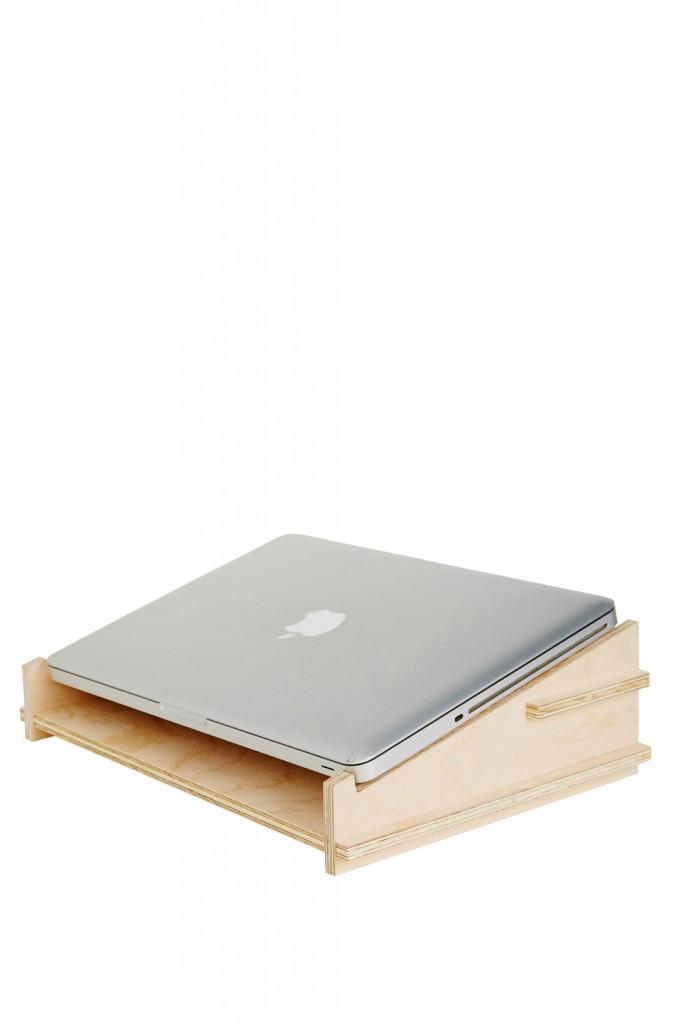 Timber laptop holder, $59.95, koskela.com.au