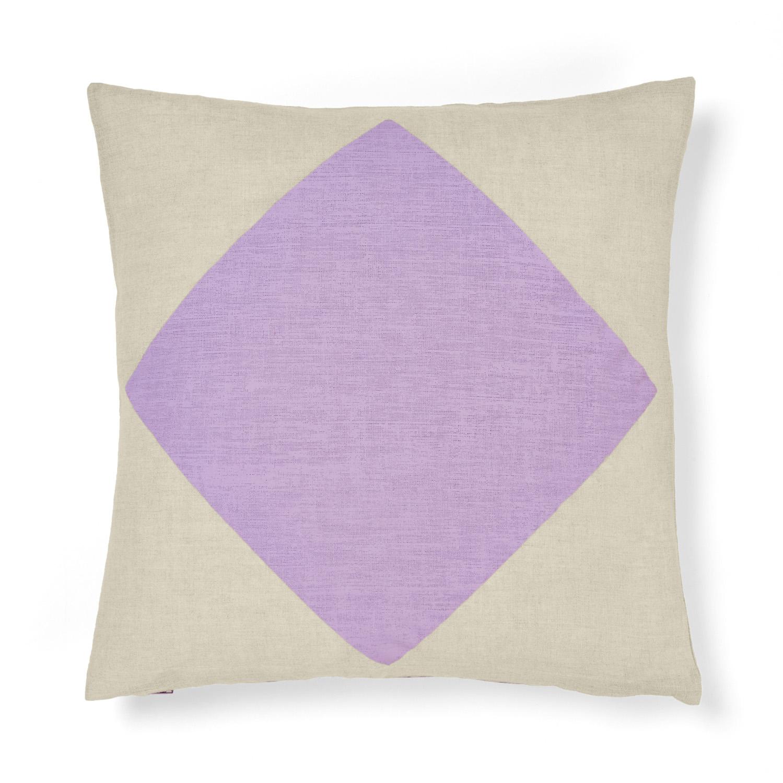 Big Diamond cushion in Lilac, aurahome.com.au