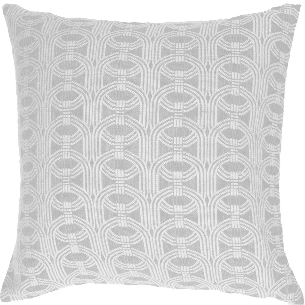 Barrel-weave Ice Euro cushion, bandhini.com.au