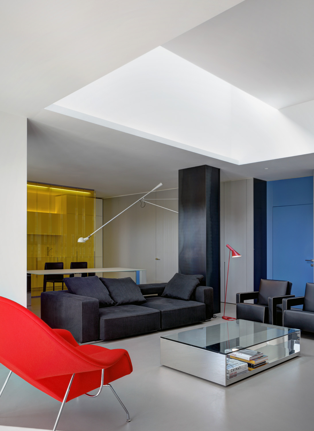 Editors pick: The use of primary colours in the living space. using different textures creates a unique layered effect