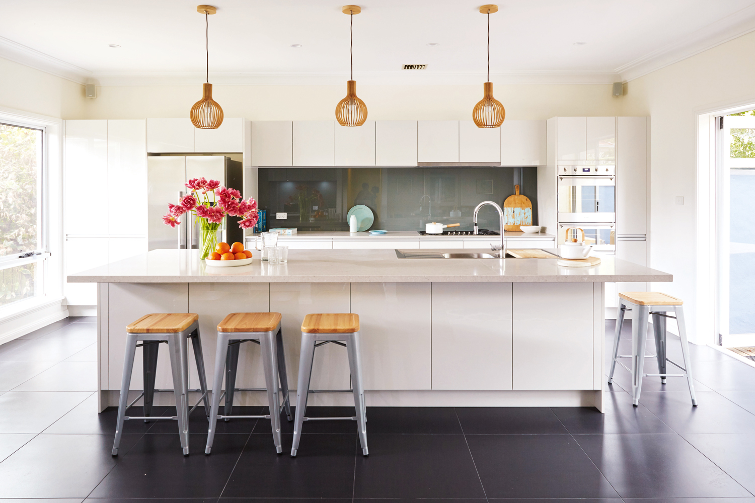This kitchen was designed with a timeless style that could grow and change with a young family