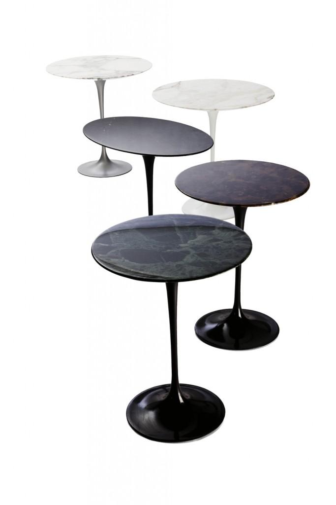 Saarinen Pedestal side tables by Eero Saarinen for Knoll Studio