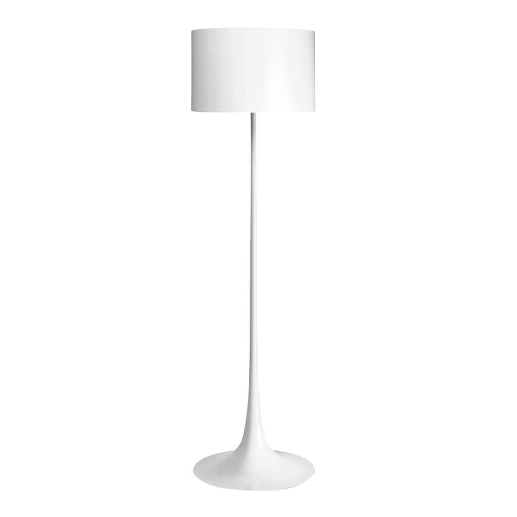 Spun floor lamp in white by Flos