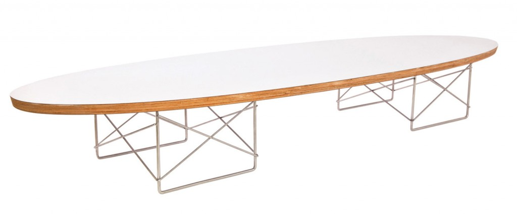 Wire-base Elliptical table by Charles and Ray Eames