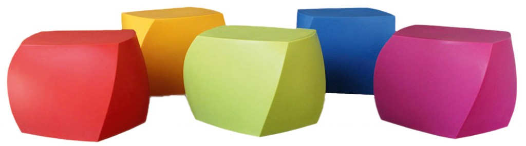 Frank Gehry Twist Cube stools