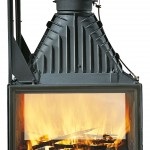 Classic design: lift-up door fireplace