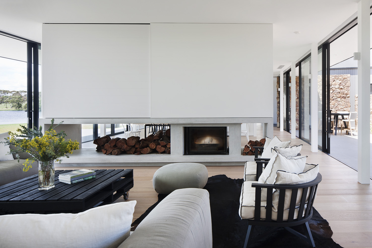 A neutral interior lets the features of the home shine