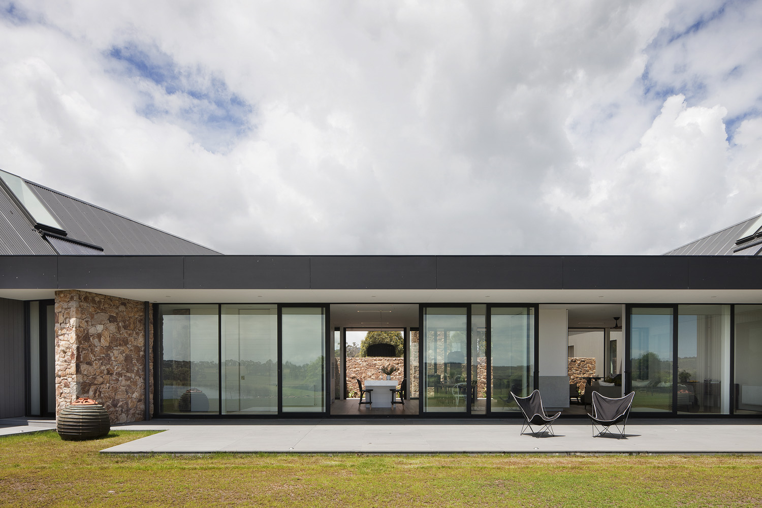 This home is full of light, which can be credited to the sliding glass doors on both sides