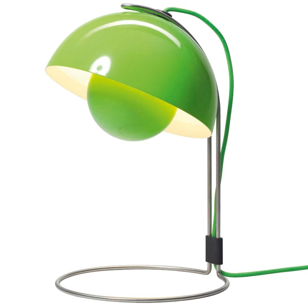 Verner Panton FlowerPot table lamp lime green
