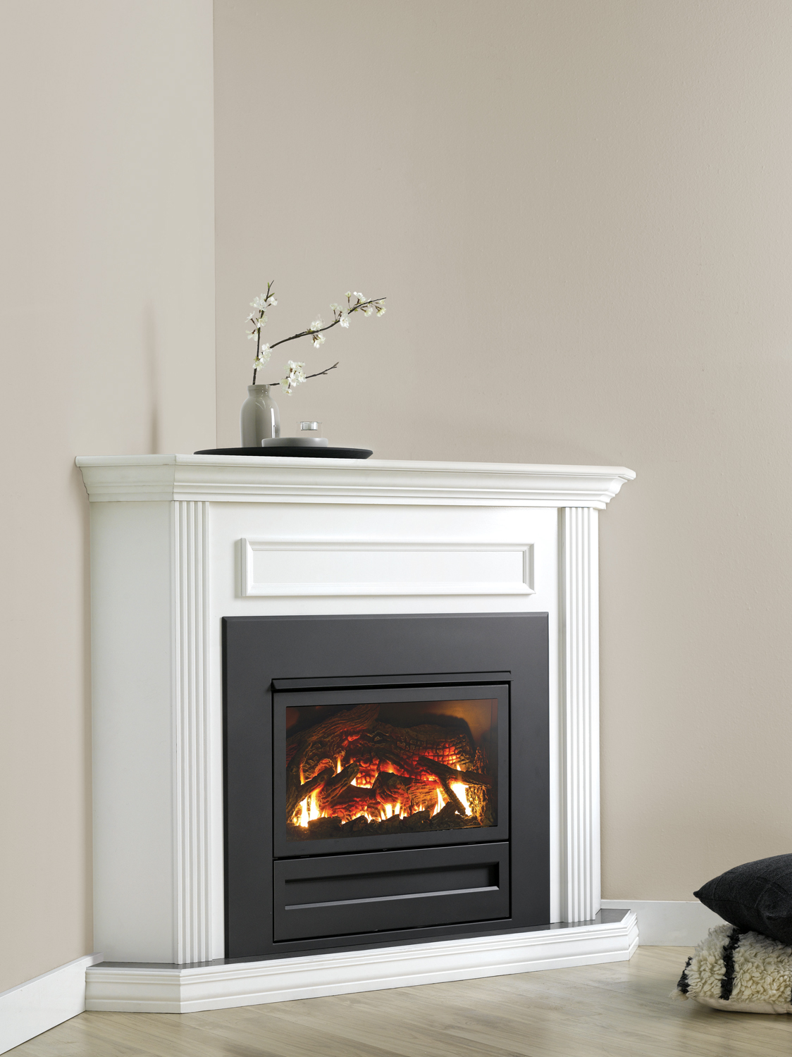 Classic Styling Gas Log Fire Completehome