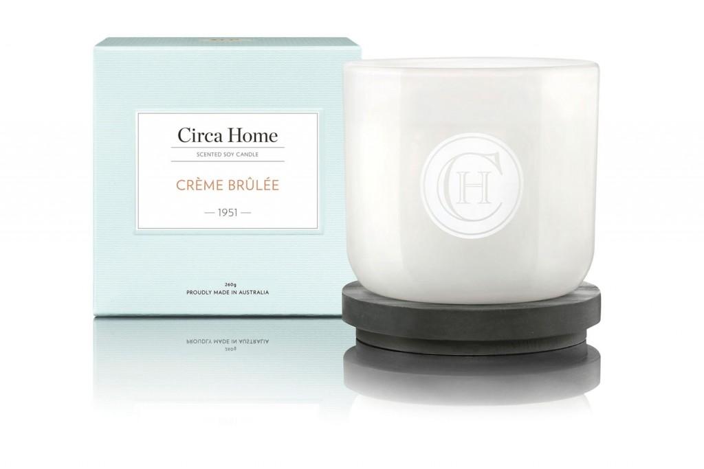 Circa Home Crème Brûlée Classic Candle, RRP$29.95, circahome.com.au