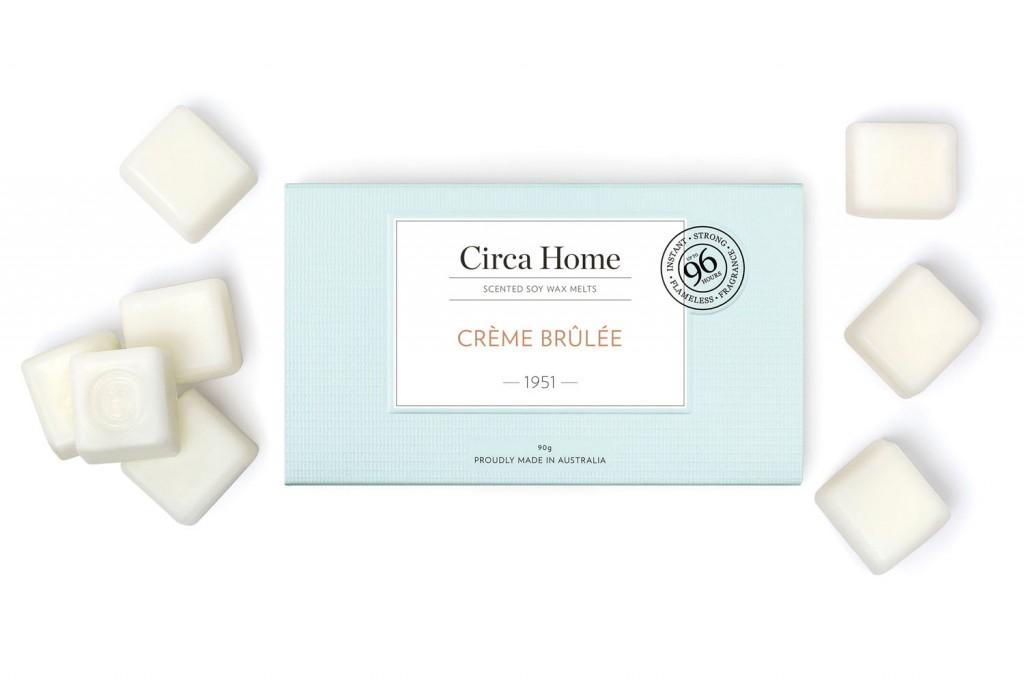 Circa Home Crème Brûlée Scented Soy Wax Melts, RRP$9.95, circahome.com.au