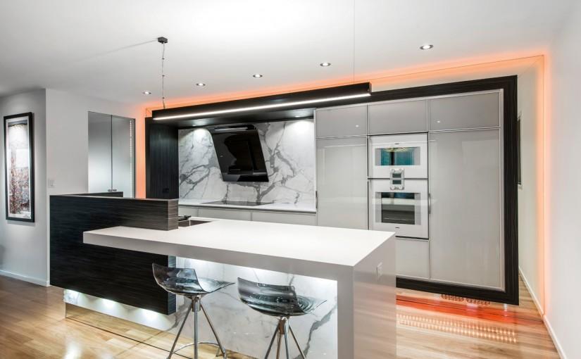 Timeless elegance: kitchen glass doors