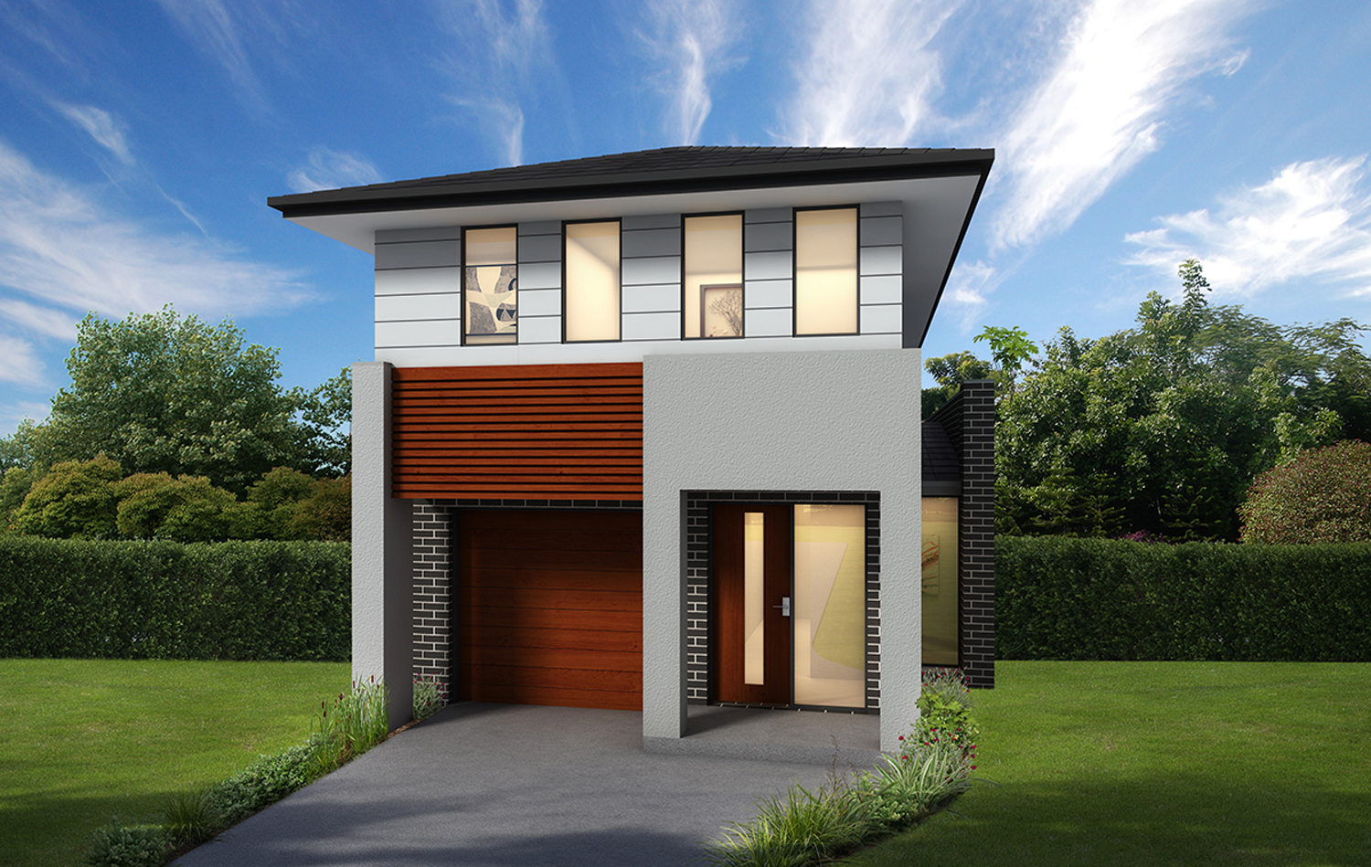 Meeting high demand narrow lot designs completehome for House plans with lots of storage