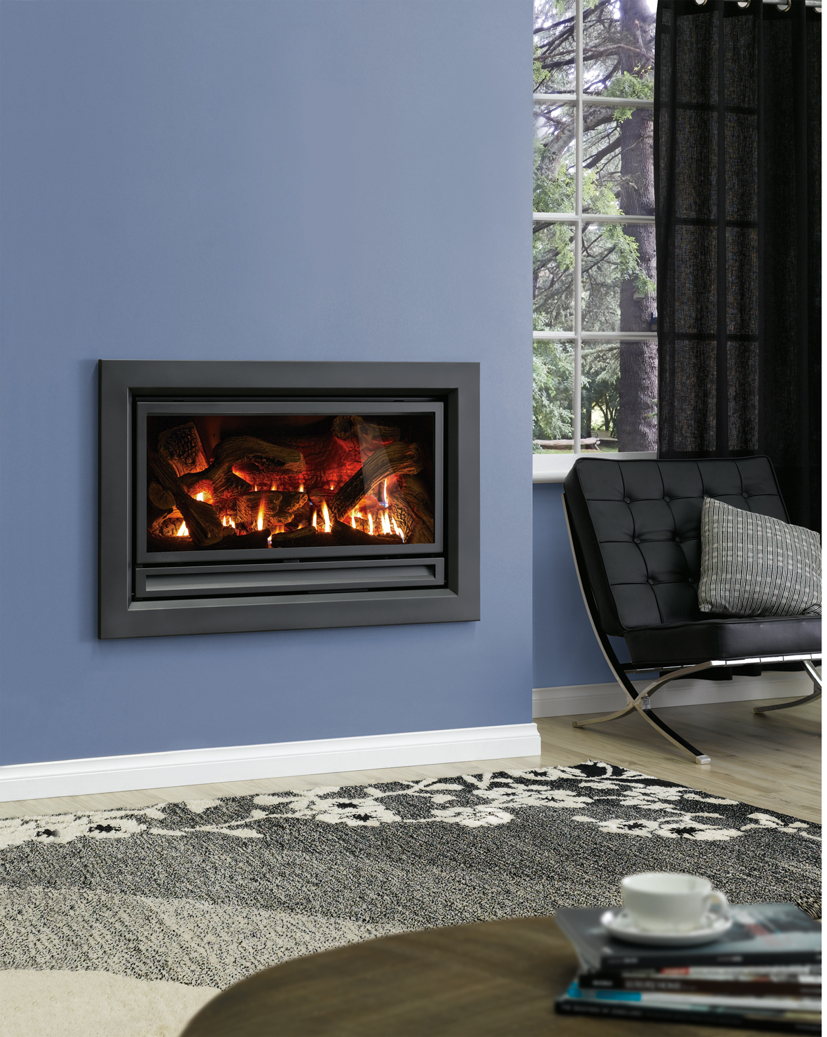 IS 900 Charcoal blue wall flat