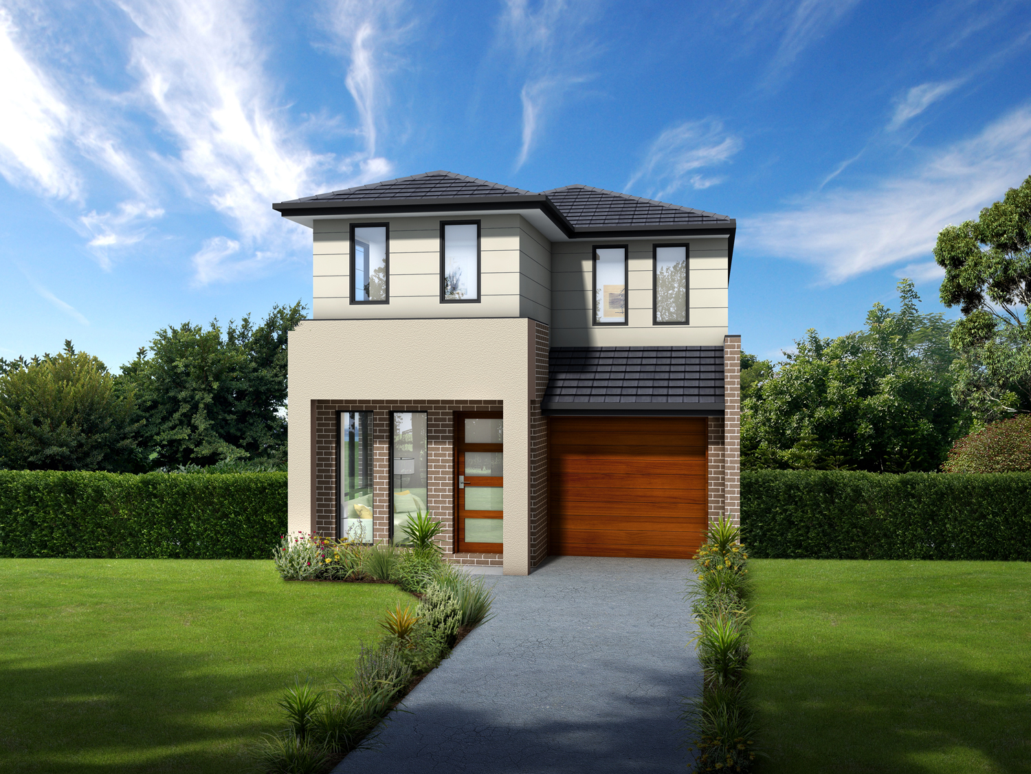 Meeting high demand narrow lot designs completehome for Narrow lot homes