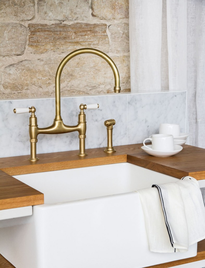 Beautiful brass from The English Tapware Company's Perrin & Rowe collection
