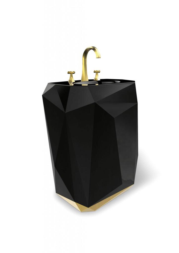 Maison Valentina Diamond freestanding wash basin, POA, maisonvalentina.net