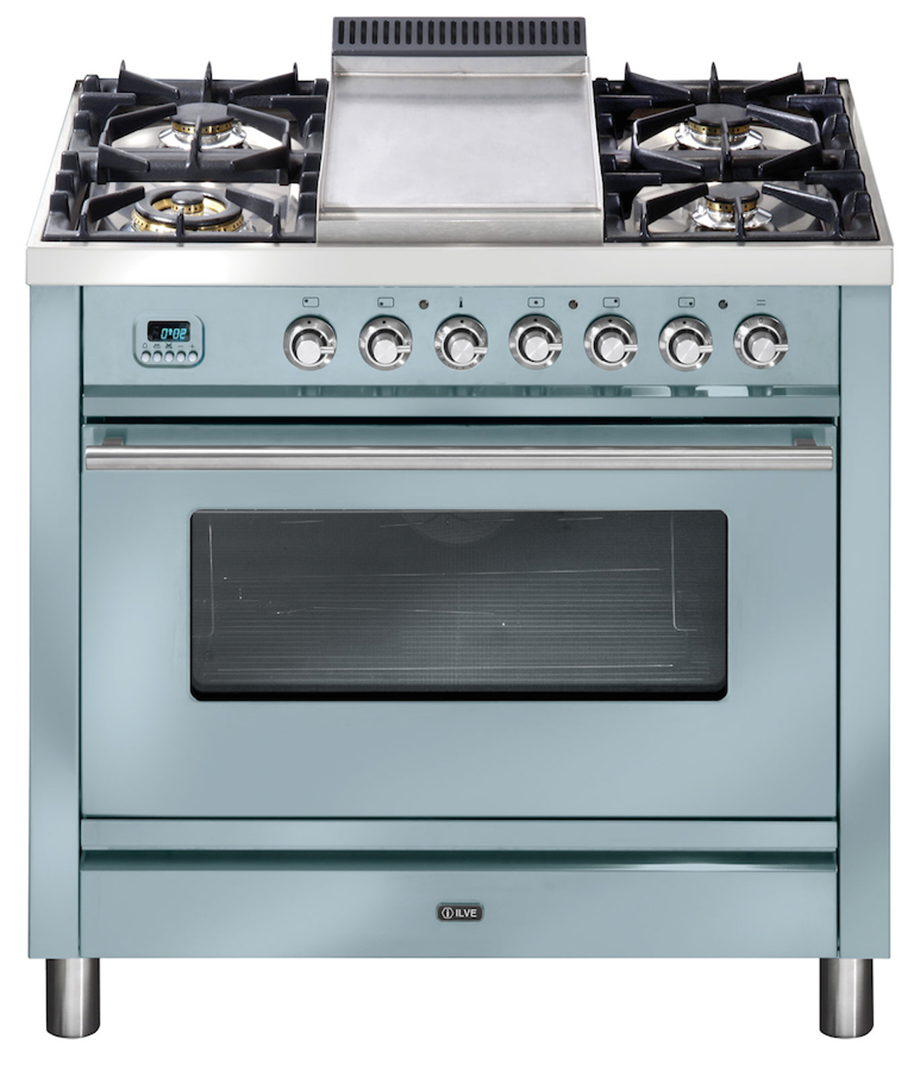 Custom coloured: handcrafted Italian ovens