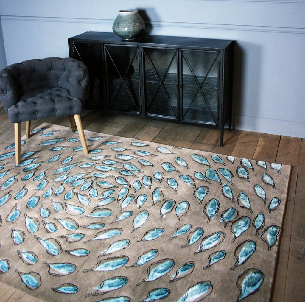 Spirit blue rug, therugest.com