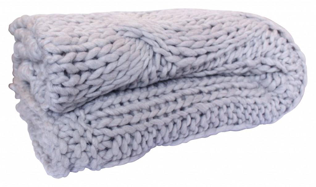 Chunky knit throw in Oatmeal, orsonandblake.com.au