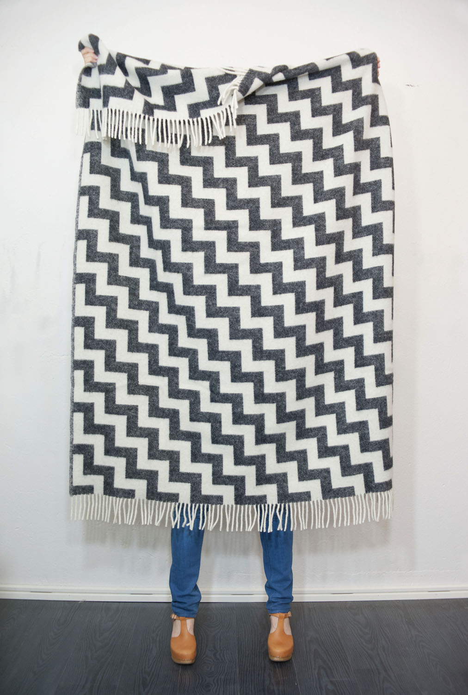 Gunnel black blanket, habitathomecollection.com.au