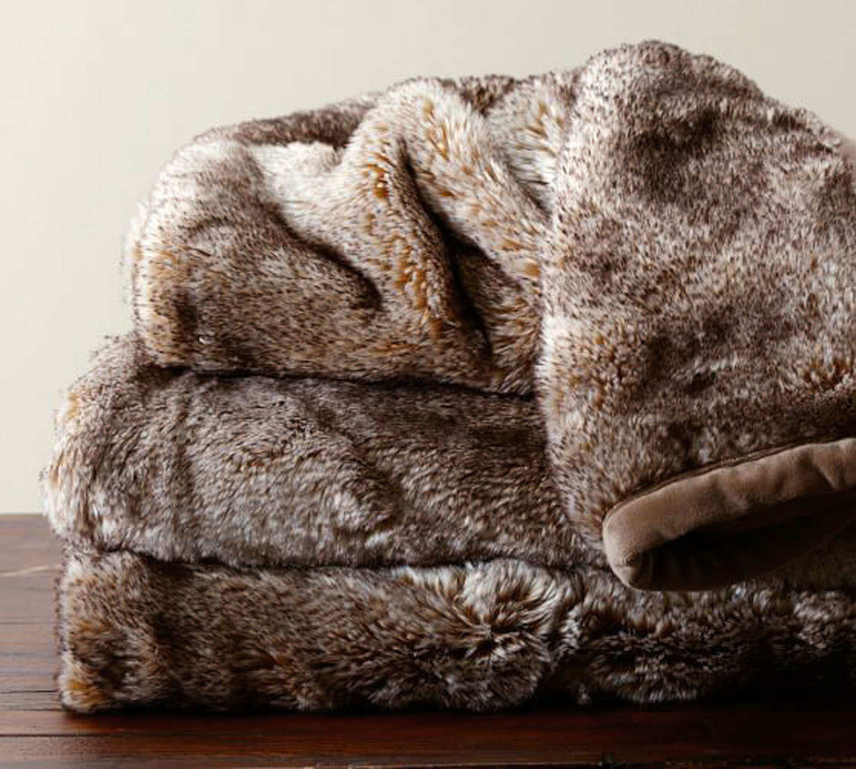 Fur throw rug, potterybarn.com.au