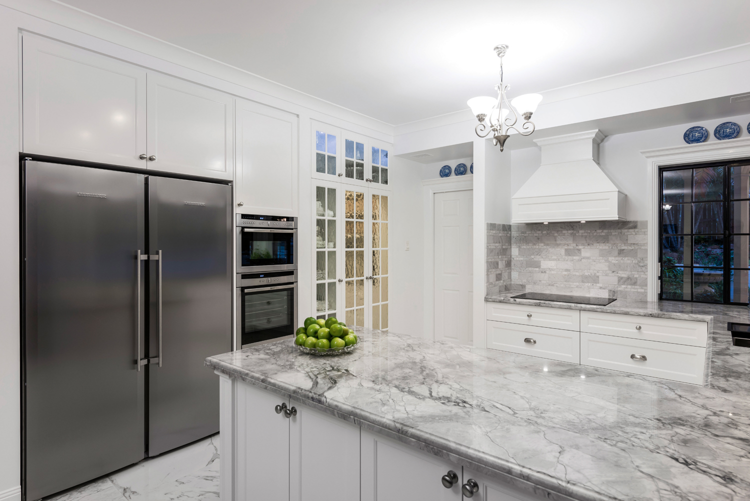 French elegance: chateau-style kitchen