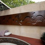 Designer flair: metal decor