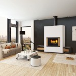French flair: fireplace range