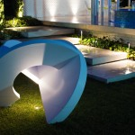Using lights to create a night garden
