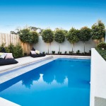 Effortlessly chic: courtyard pool