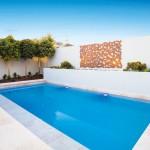 Effortlessly chic: courtyard pool
