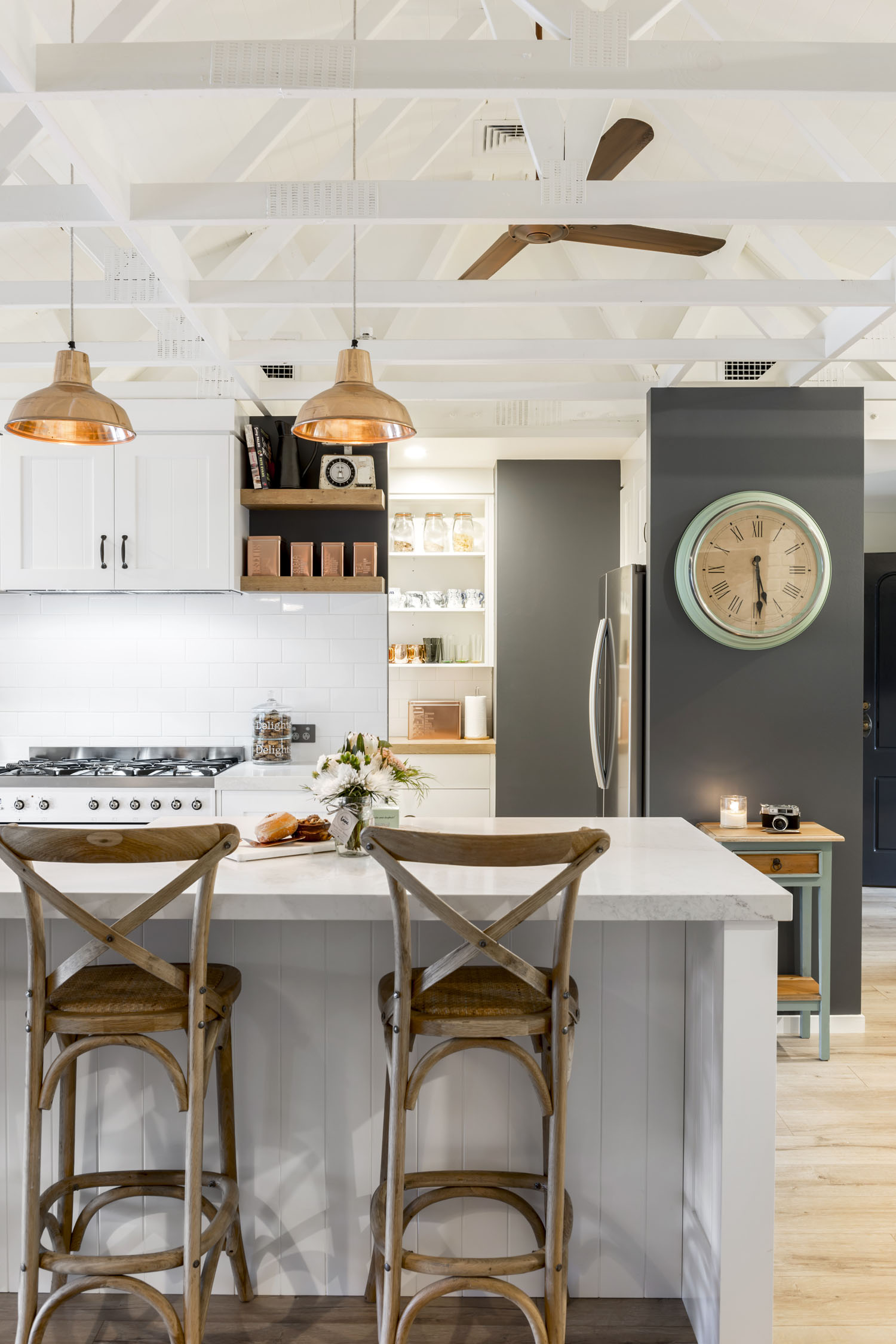 A kitchen with a touch of country