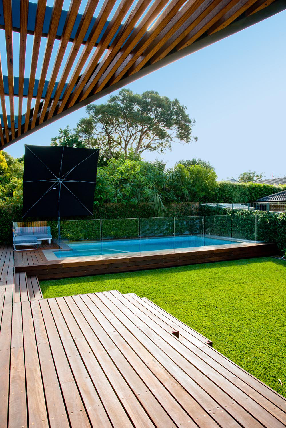 outdoor area with pool