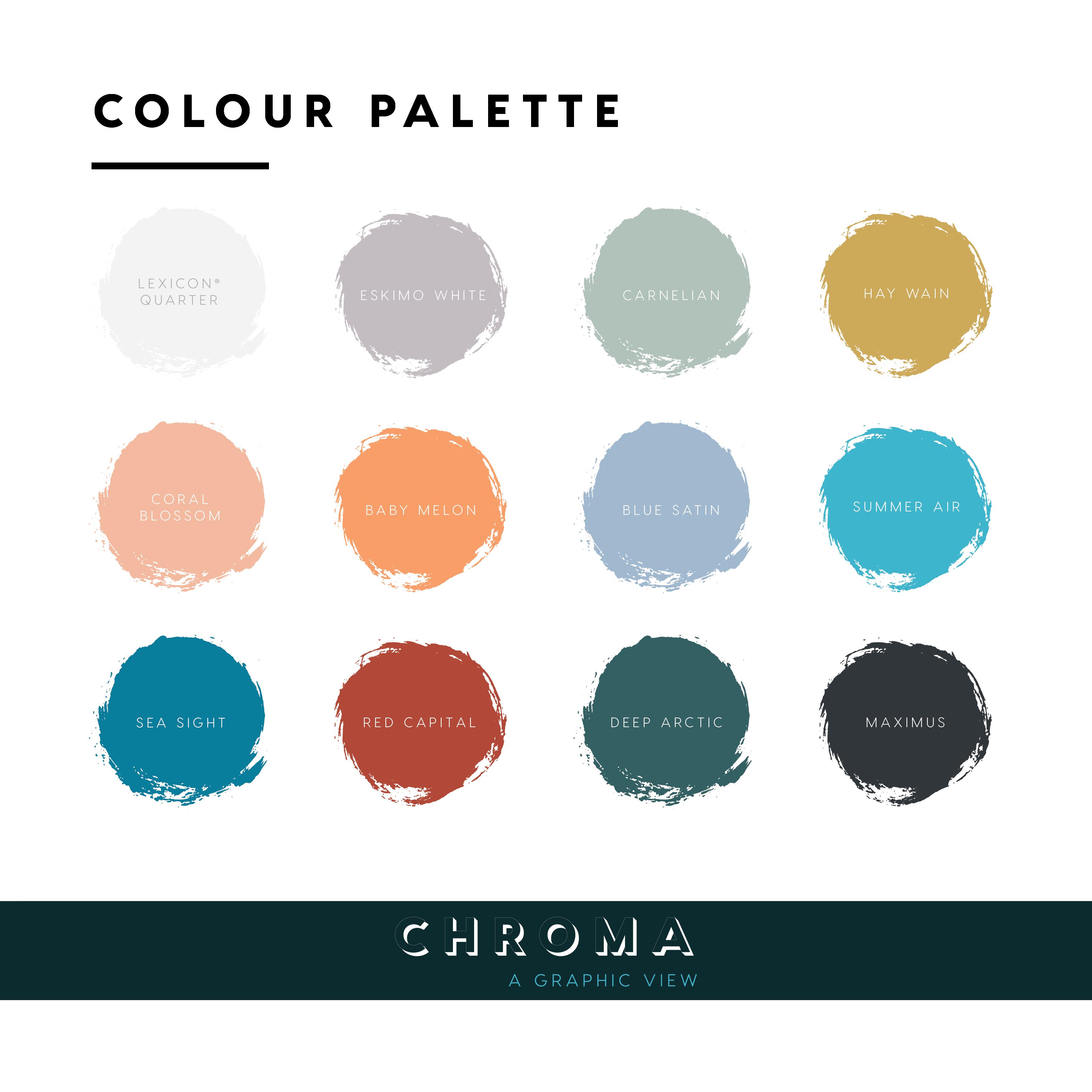 Dulux Chroma Colour Palette