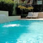 Turquoise waters: backyard pool