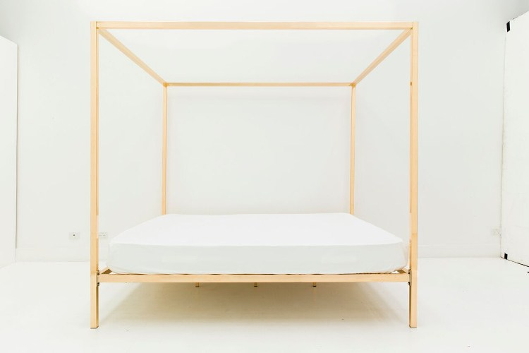 Megan Morton and Incy Interiors Foour Poster Bed in Rose Gold