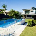 Deep blue: backyard pool