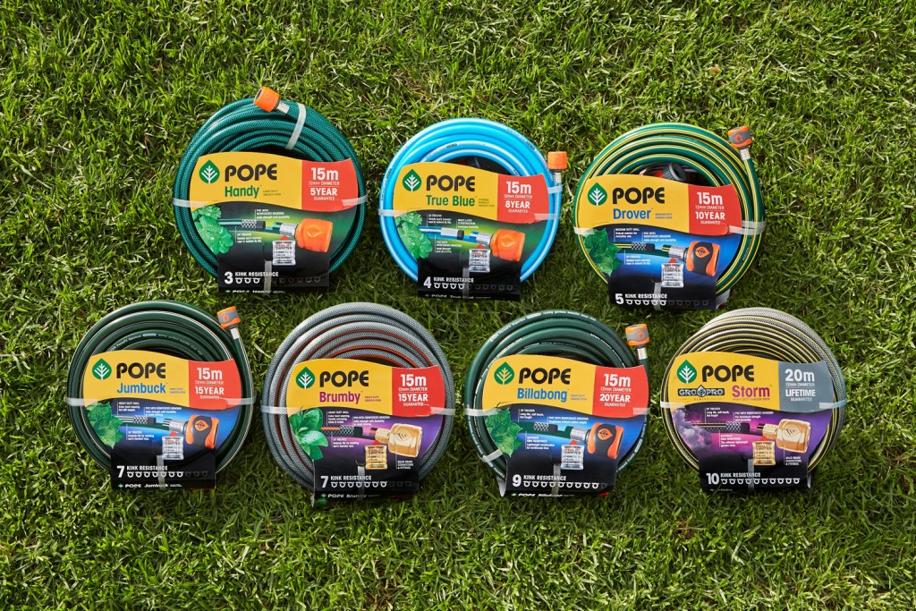 The better way to water: garden hoses