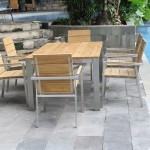 Industrial chic: outdoor dining furniture