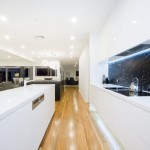 Understated opulence: minimalist kitchen