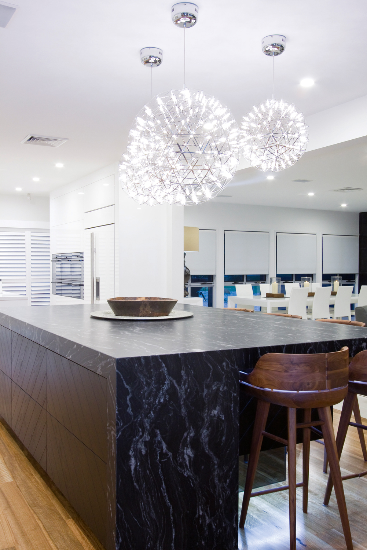 Understated opulence: minimalist kitchen